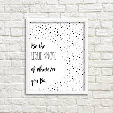 printable wall art leslie knope print gallery wall parks