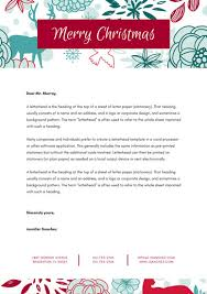 red blue pattern floral christmas letterhead templates by canva