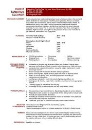 brilliant ideas of sample resume for cleaner on format gallery