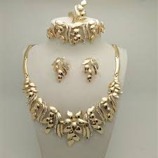 gold sets design 2017 high quality gold filled vintage style women wedding jewelry