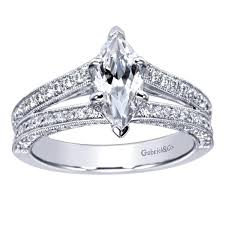 marquise diamond engagement ring 14k white gold marquise split shank diamond engagement ring