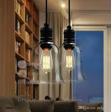 modern crystal bell glass pendant lights dining room indoor