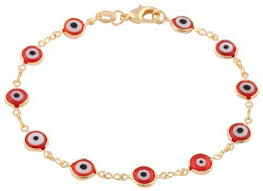 bracelet clasps styles images Gold overlay with colorful mini evil eye style 7 5 inch clasp bracelet jpeg