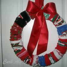 curb alert christmas sock wreath