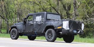 jeep truck spy photos new spy shots offer best look yet for 2019 jeep truck quadratec