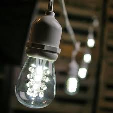 led edison string lights commercial edison drop string lights 100 foot white wire cool white