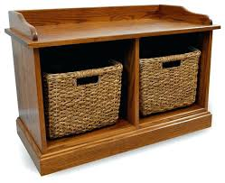 entryway bench with baskets and cushions storage benches with baskets storage bench wooden 2 baskets