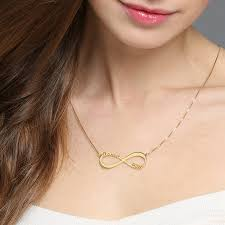 two name necklace two name necklace personalized infinity necklace gold color infinity