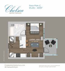 Studio Plans by Luxury Studio 1 U0026 2 Bedroom Apartments At Chelsea Santa Monica