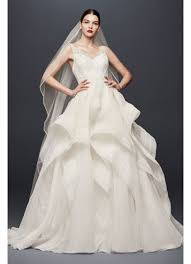 wedding dress truly zac posen horsehair tier skirt wedding dress david s bridal