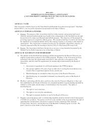 best photos of not for profit bylaws template sample corporate