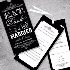 eat drink and be married invitations black eat drink be married wedding invitation paper themes