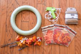 diy fall leaves wreath revamperate