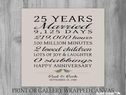 25th wedding anniversary gifts 25 year anniversary gift 25th anniversary print 25th wedding