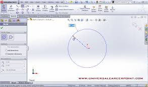 edit sketch pattern in solidworks how to sketch circle in solidworks universal career point