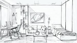 interior design sketch interior design bedroom sketches a interior sketch picture on the