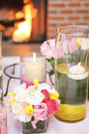 Vases With Flowers And Floating Candles Elegant Pretty In Pink Baby Shower Amazing Florals Hostess