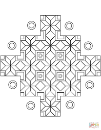 indian geometric pattern coloring page free printable coloring pages