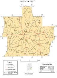 Alabama State Map Maps Of Pike County