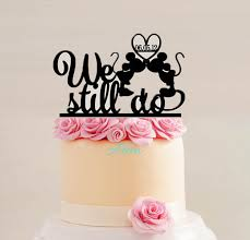 anniversary cake toppers mickey minnie anniversary cake topper we still do cake topper