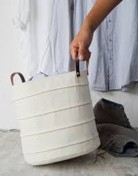 Canvas Laundry Hamper by These 10 Laundry Hampers Will Look At Home In Any Room Contemporist