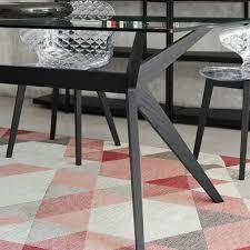 rectangle glass dining room table kent cs 4105 rc 180 v rectangle glass dining table with wooden base