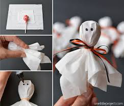 How To Make Little Ghost Decorations Lolly Pop Ghosts