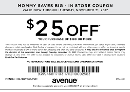 printable coupons in store coupon codes 25 off 100 avenue coupon