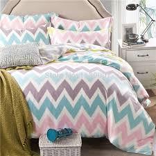 pink white blue chevron zigzag duvet cover set 4 pieces 40s tencel