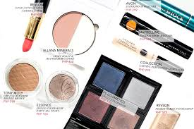 affordable makeup budget beauty drugstore makeup php 500
