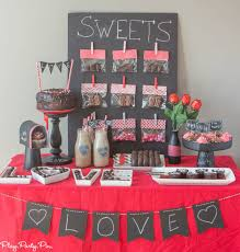 Valentine S Day Themed Party Decorating Ideas by Chalkboard Valentine U0027s Day Party Ideas