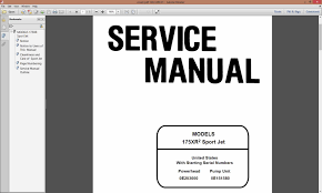 sea rayder jet boat engine and pump service repair manual 175 xr2