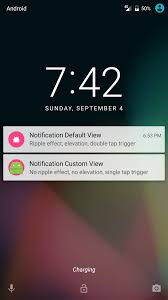 android lock screen notifications android lock screen notification custom view with ripple and