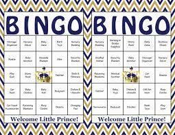 100 prince baby shower bingo cards prefilled bingo cards