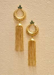 golden earrings party wear fancy golden earrings for women collection catalog