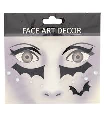 face tattoo stickers red creepy glitter blood drips ghost