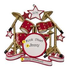 personalized ornament drum set ornament custom