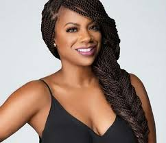 birthing hairstyles kandi burruss debuts banging hairstyle and fans pushed photo to go