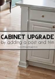 kitchen cabinet upgrade adding a kitchen counter post to upgrade builder standard kitchen