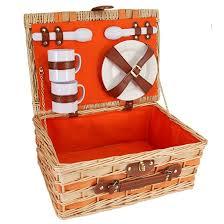 Picnic Basket Set Orange Picnic Basket Sets For 2