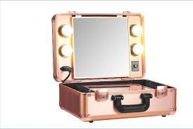 makeup vanity with led lights rose gold vanity trolley makeup trolley case led light