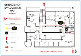 Fire Evacuation Floor Plan   emergency evacuation maps precision floor plan