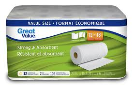 great value 2 plystrong and absorbent paper towel walmart canada