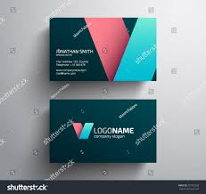 Abstract Business Cards Abstract Business Card Template Clean Modern Stock Vector