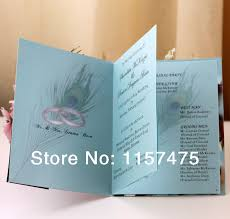 printed wedding programs hi9002 customized wedding programs order of service with ribbon in