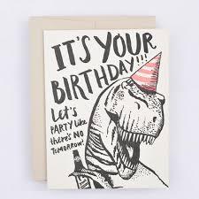 t rex birthday card u2013 thorn and burrow