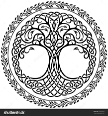 vector ornament decorative celtic tree of with floral