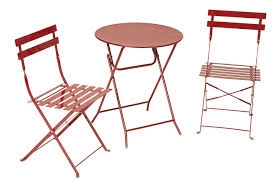 Patio Bistro Table Cosco Products Cosco Outdoor Living All Steel 3 Piece Folding