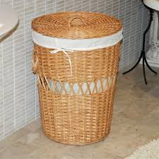 Wicker Clothes Hamper With Lid Wooden Division Small Laundry Hamper U2014 Sierra Laundry