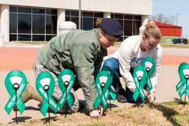 teal ribbons air guard unit uses teal ribbons in sexual assault prevention